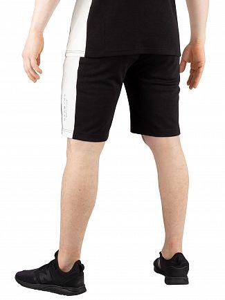 Hermano Black/White Side Panel Jersey Sweat Shorts