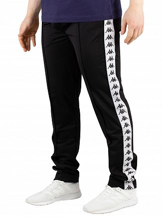 Kappa Black/White 222 Banda Astoria Slim Joggers