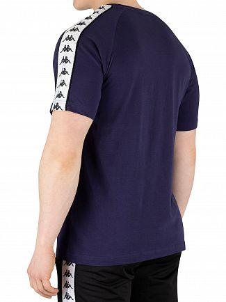 Kappa Blue Marine/White/Black 222 Banda Coen T-Shirt