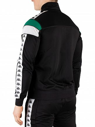 Kappa Black/Green/White 222 Banda Merez Slim Track Top