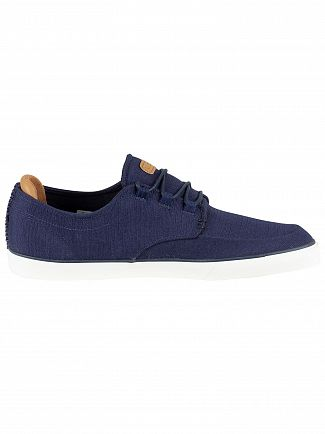 Lacoste Navy/Light Brown Esparre Deck 119 3 CMA Canvas Trainers