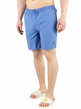 Lyle & Scott Cornflower Blue Plain Swim Shorts