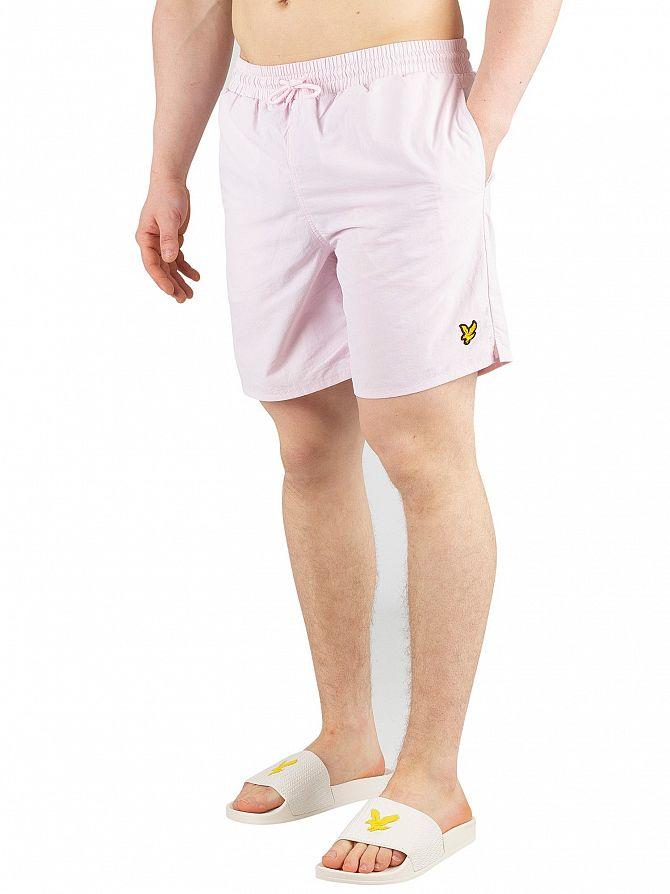 e5aaee3768 Details about Lyle & Scott Men's Plain Swim Shorts, Pink