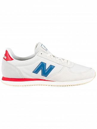 New Balance Grey/Blue/Red 220 Suede Trainers