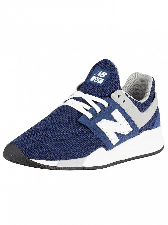 New Balance Navy/Grey 247 Textured Trainers