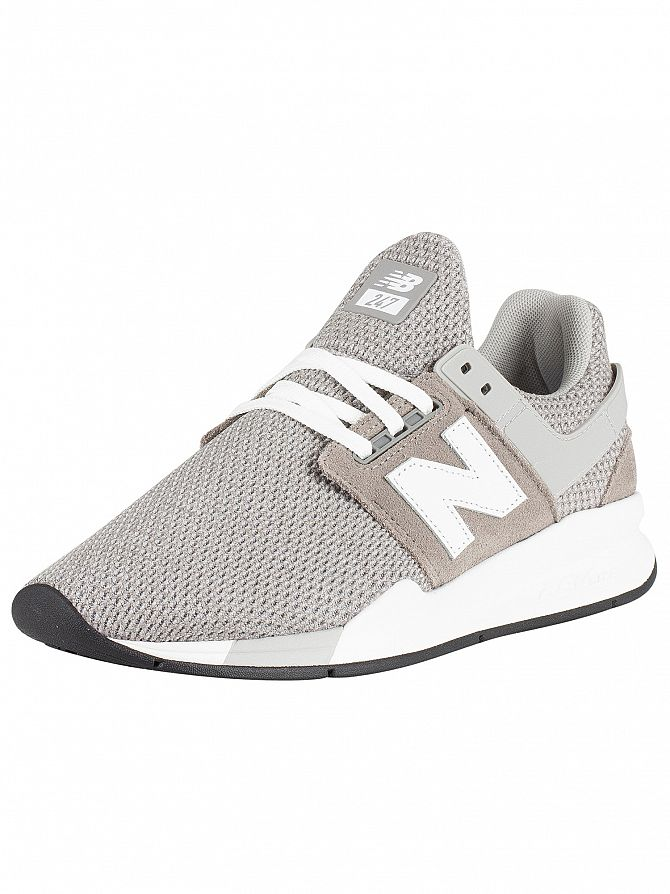 New Balance Grey/White 247 Textured Trainers