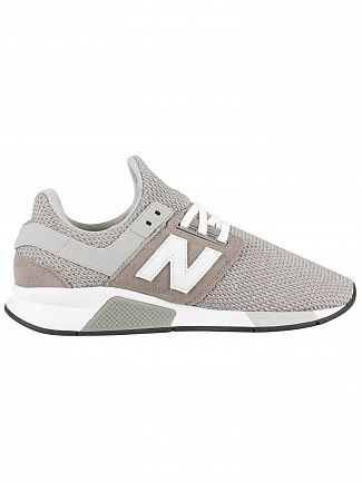 New Balance Grey/White 247 Textured Trainers