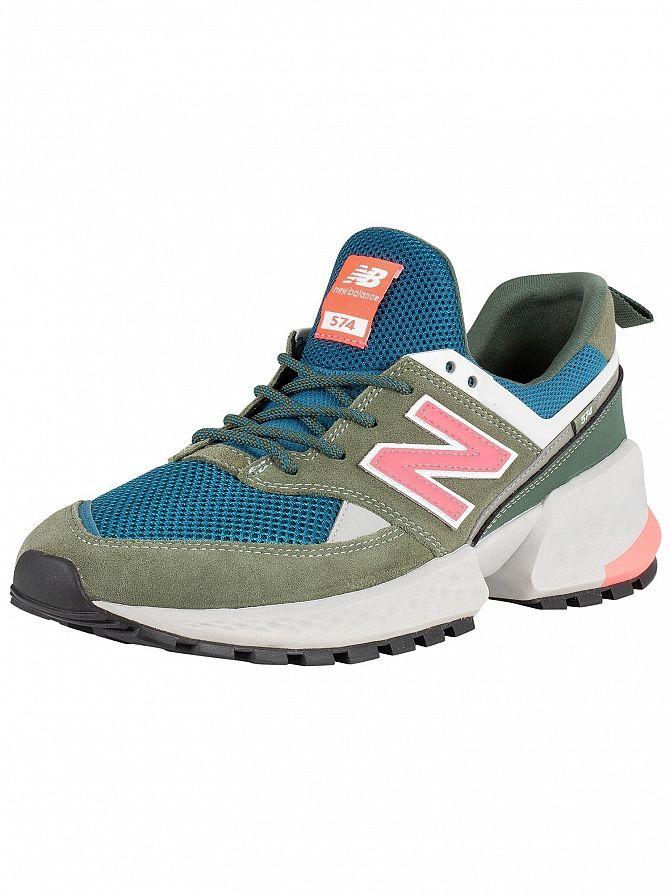 New Balance Green/Blue/Pink 574 Sport Trainers