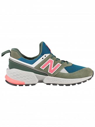 New Balance Green/Blue/Pink 574 Sport Trainers