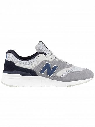 New Balance Grey/Navy 997 Suede Trainers