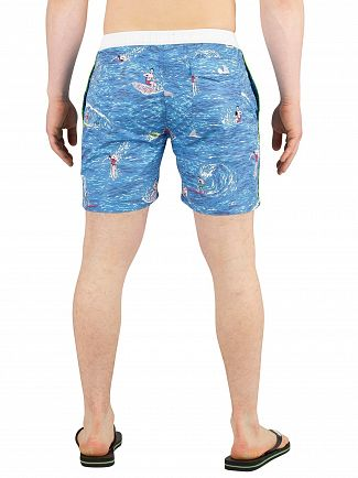 Scotch & Soda Blue All Over Print Swim Shorts