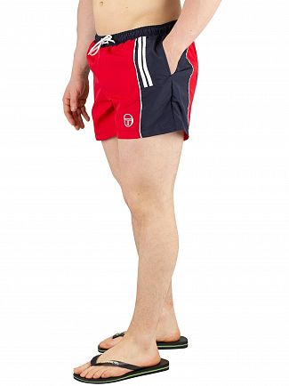 Sergio Tacchini Red/Navy Cyprus Swim Shorts