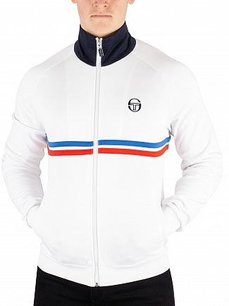 Sergio Tacchini White/Royal/Vintage Red Dallas Track Jacket