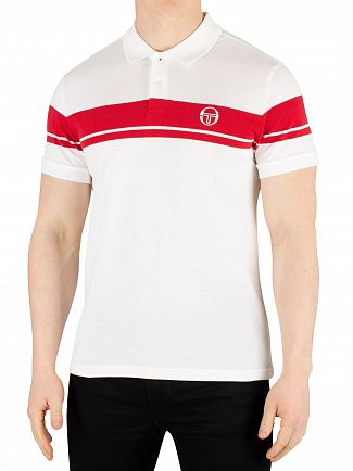 Sergio Tacchini White/Red Young Line Poloshirt