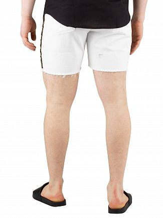 Sik Silk White Cartel Denim Shorts