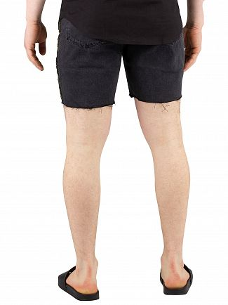 Sik Silk Black Cartel Denim Shorts