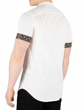Sik Silk White Cartel Grandad Shortsleeved Shirt