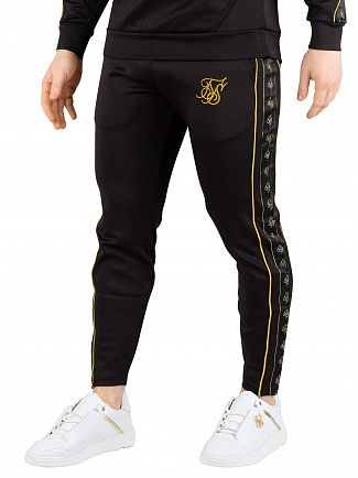 Sik Silk Black/Gold Cropped Taped Joggers