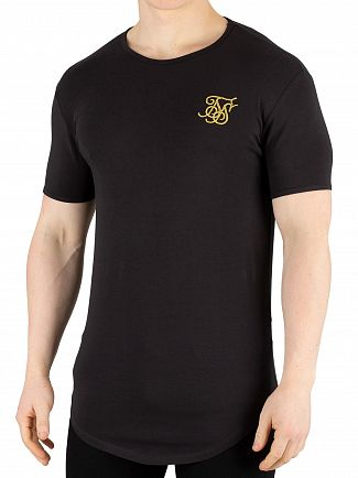 Sik Silk Black/Gold Gym T-Shirt