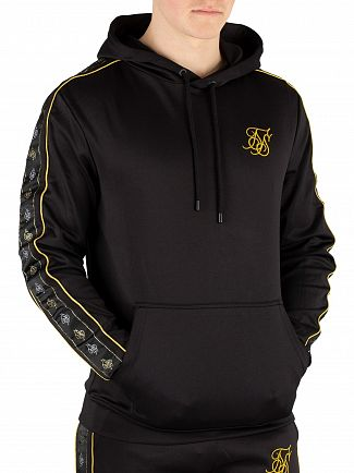 Sik Silk Black/Gold Pullover Taped Hoodie