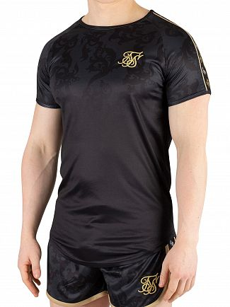 Sik Silk Black/Gold Tape Trials Gym T-Shirt