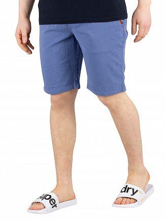 Superdry Neptune Blue International Slim Chino Shorts
