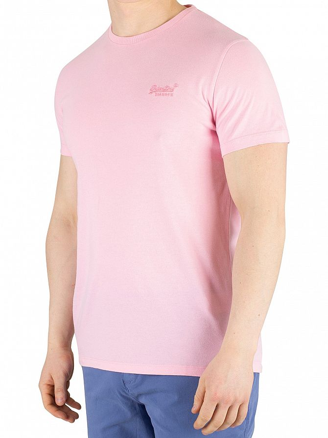 Superdry Prime Pink Orange Label Lite T-Shirt