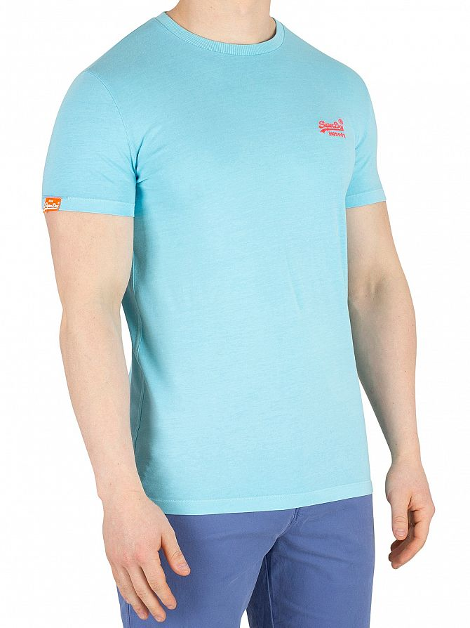 Superdry Ice Blue Orange Label Neon T-Shirt