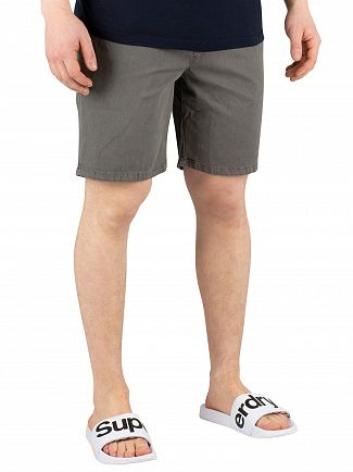 Superdry Spinningfield Grey Sunscorched Chino Shorts