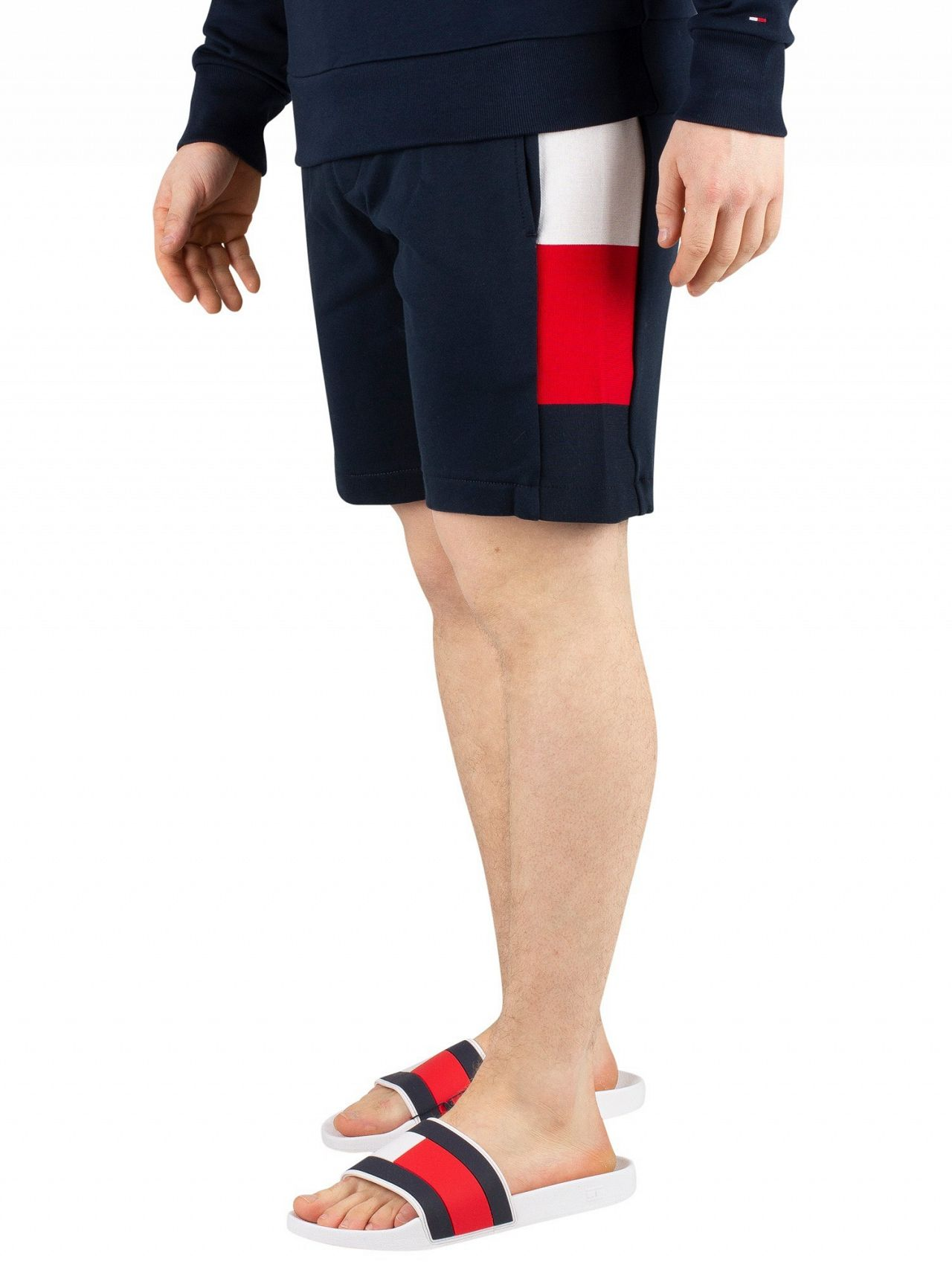 2ed3b92d460 Tommy Hilfiger Sky Captain Flag Rib Insert Sweat Shorts. Tap to expand