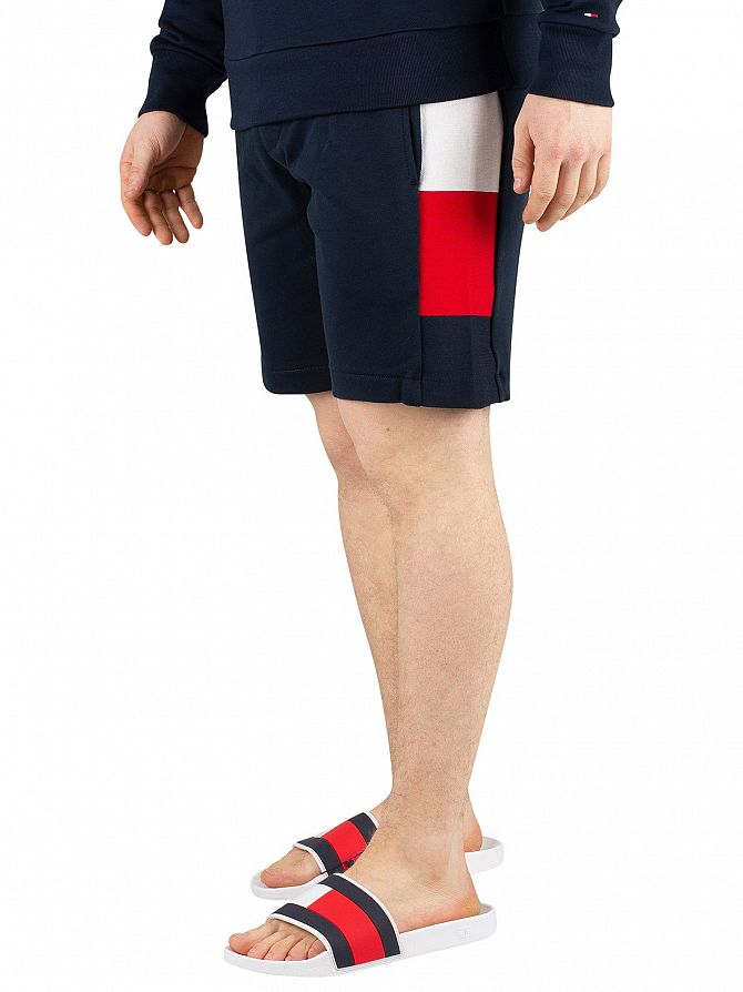 Tommy Hilfiger Sky Captain Flag Rib Insert Sweat Shorts