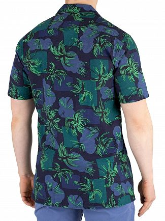 Tommy Hilfiger Night Sky/Multi Palm Tree Print Shortsleeved Shirt