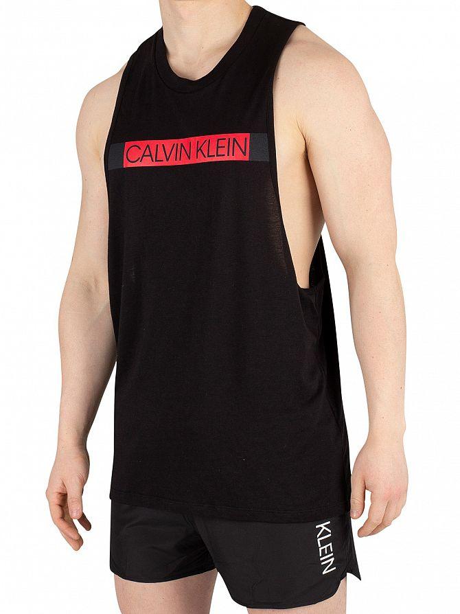 Calvin Klein Black Crew Neck Muscle Tank Top