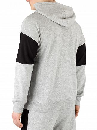 Calvin Klein Grey Heather Graphic Pullover Hoodie