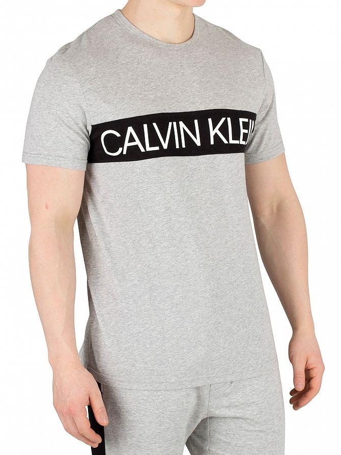 Calvin Klein Grey Heather Graphic Pyjama T-Shirt