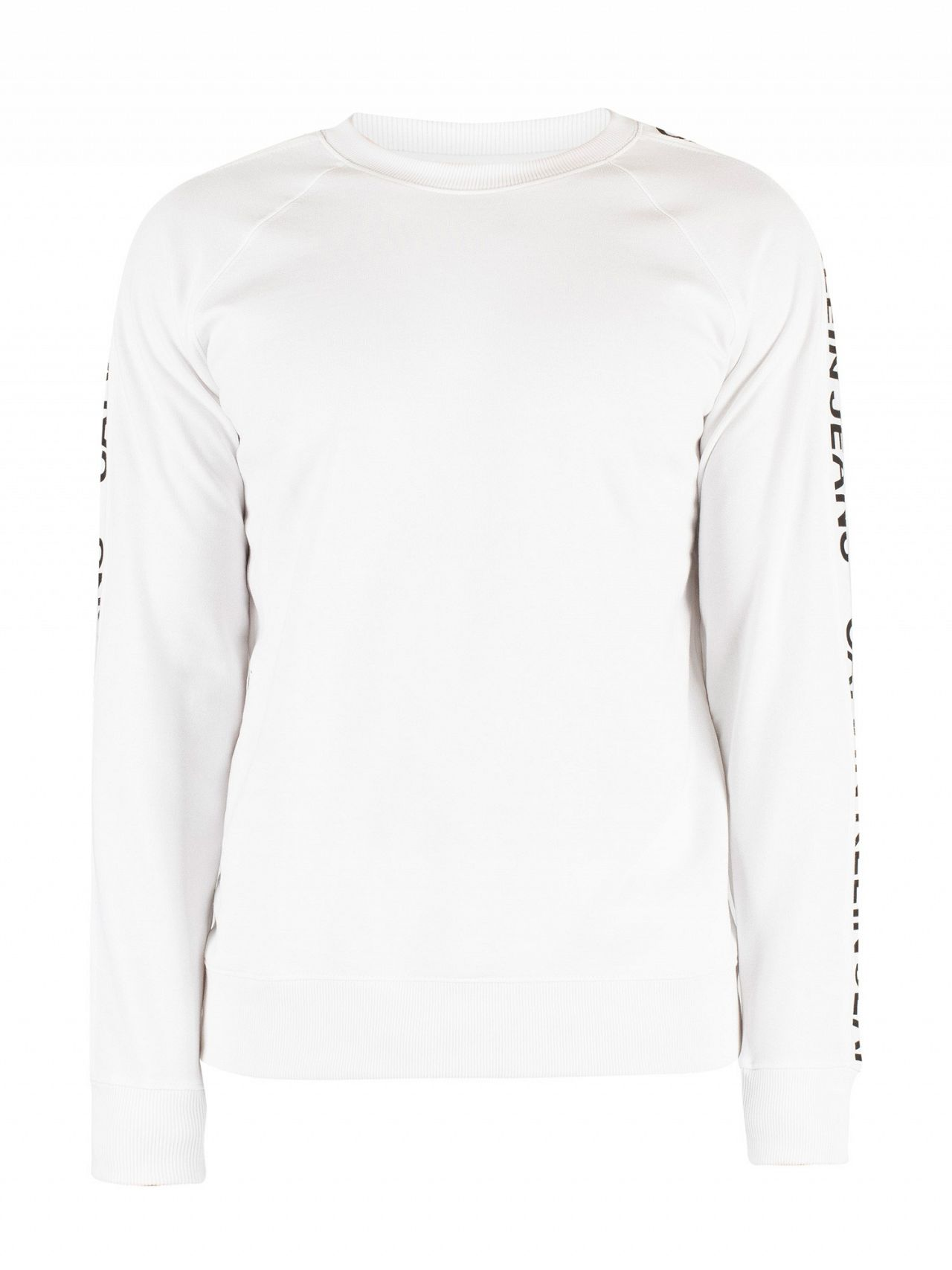 6612704a44c Calvin Klein Jeans Bright White Black Side Stripe Sweatshirt