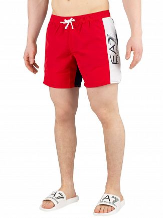 EA7 Tango Red/White/Blue Sea World Block Swim Shorts