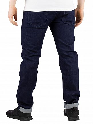 Edwin Rinsed Blue Denim ED-80 CS Braxton Slim Tapered Jeans