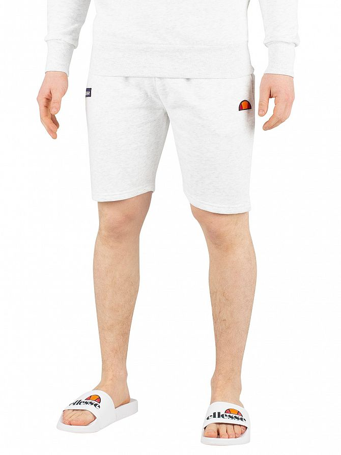 Ellesse White Marl Noli Sweat Shorts