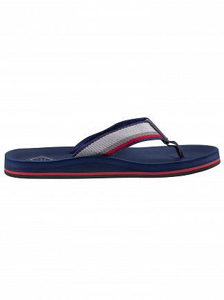 Gant Marine/Grey/Red Breeze Flip Flops