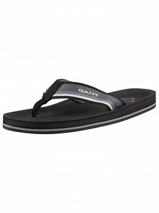 Gant Black/Grey Breeze Flip Flops