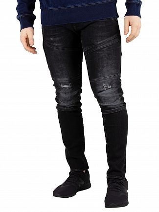G-Star Medium Aged Grey Destroy Rackam 3D Skinny Jeans