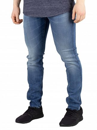G-Star Slander Blue Revend Skinny Jeans