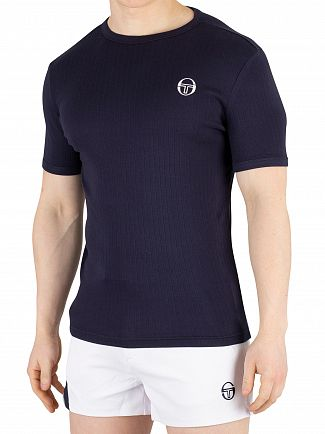 Sergio Tacchini Navy/White Drop T-Shirt