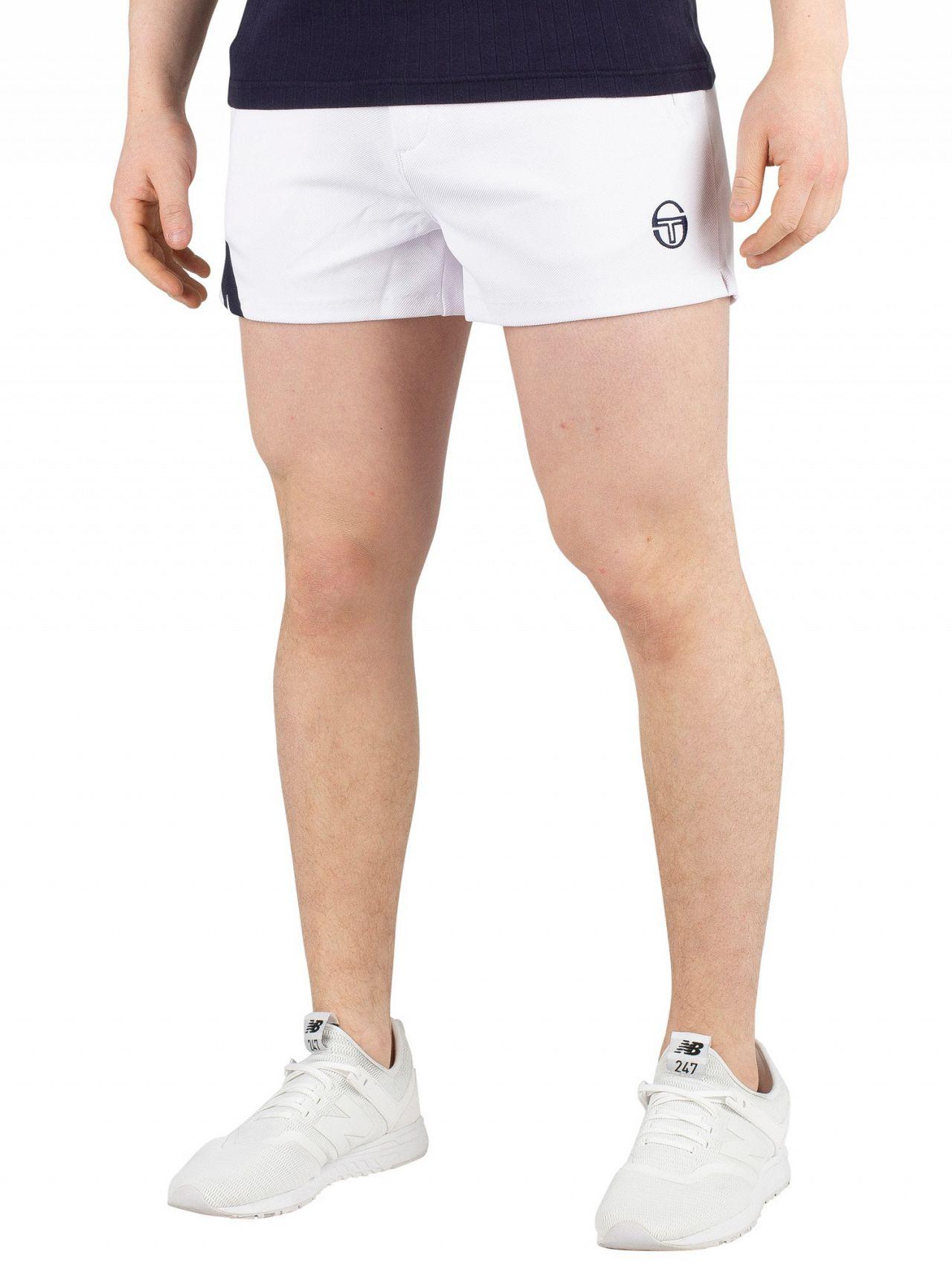9682718d97e52 Sergio Tacchini White/Navy Time Archivio Sweat Shorts | Standout