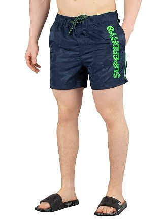 Superdry Mariner Camo Jacquard Pool Side Swim Shorts