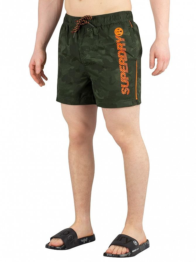 Superdry Seaweed Camo Jacquard Pool Side Swim Shorts