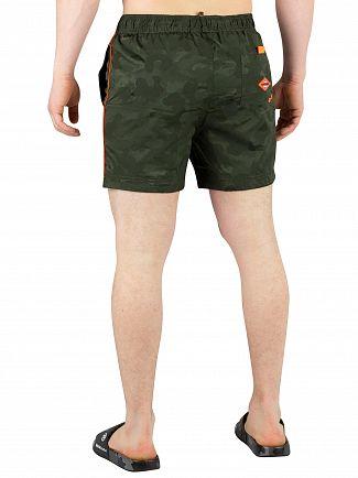 Superdry Seaweed Camo Jacquard Pool Side Swim Shorts