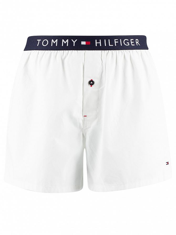 Tommy Hilfiger White Original Woven Trunks