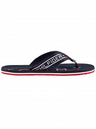 Tommy Hilfiger Midnight Stripe Beach Flip Flops